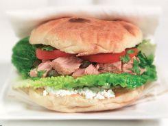 Tuna Salad in Turkish Bread