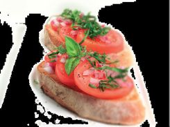 Garlic & Tomato Bruschetta