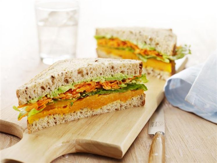Roasted Pumpkin & Salad Sandwich