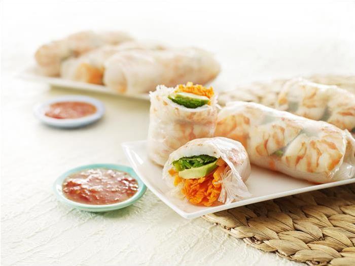 Prawn & Avocado Rice Paper Rolls