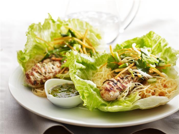 Chicken & Noodle Lettuce Wraps