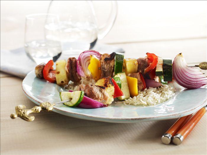 Sweet & Sour Pork Kebabs