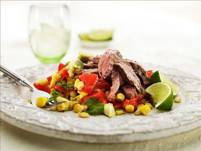 Chargrilled Beef With Avocado & Corn Salsa