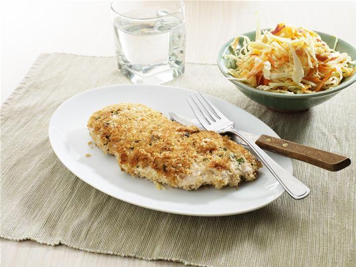 Chicken Schnitzel with Coleslaw