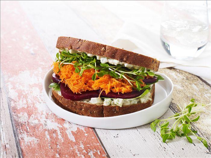 Winter Vegie Sandwich
