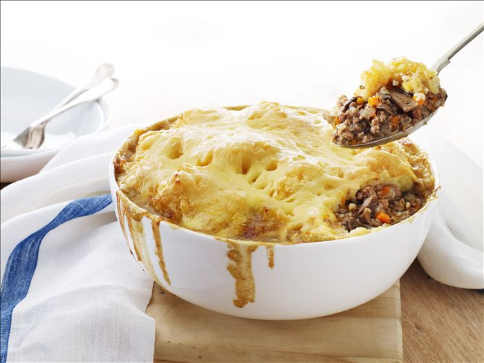 Potato Topped Beef & Mushroom Pie