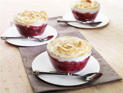 Berry Rhubarb Meringue Pots