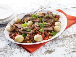 Rosemary Lamb with Sicilian Vegetables