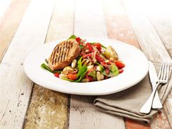 Pork Medallions with Chargrilled Potato Salad