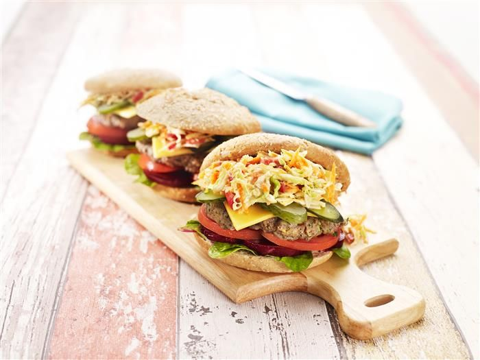 'More than a Handful' Beef Burger With Coleslaw