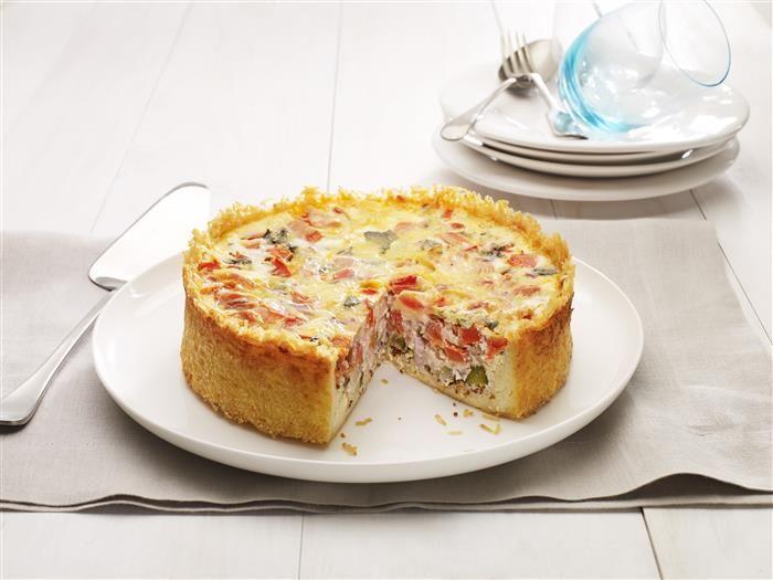 Zucchini Quiche with Rice Crust