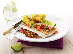 Grilled Fish with Salsa 3-2-1