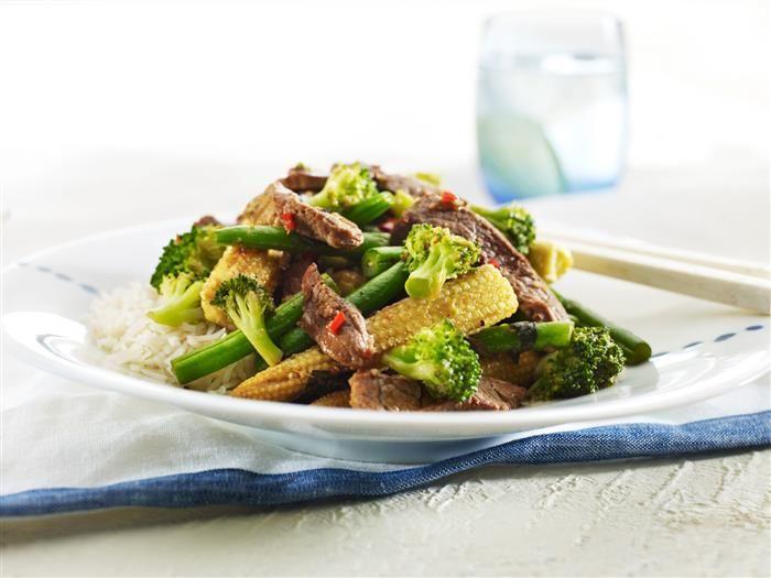 Basil Beef & Bean Stir Fry 3-2-1