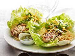 Fragrant Chicken & Noodle Lettuce Wraps 3-2-1