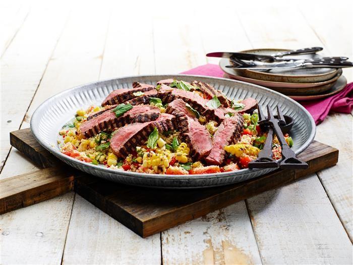 Seared Steak Corn & Couscous Salad 3-2-1