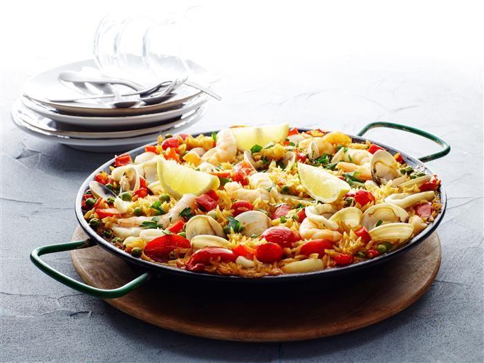 Cheat's Seafood Paella 3-2-1