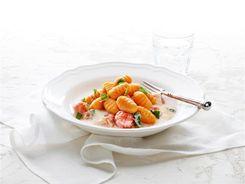 Sweet Potato Gnocchi with Roasted Tomato Cream