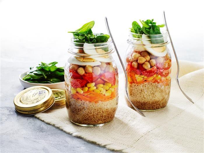 Mason Jar Rainbow Salad 3-2-1