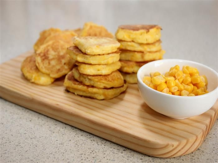 Quick corn pikelets