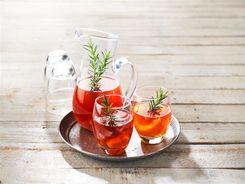 Peach & Rosemary Iced Tea