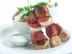 Lamb & Mushroom Kebabs