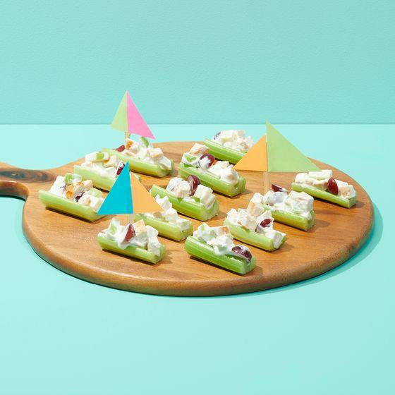 Waldorf celery boats